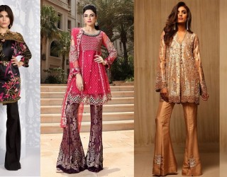 Latest Pakistani Wedding Party Wear Dresses 2017 for Women