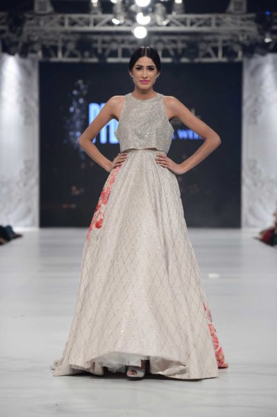 pakistani designer white bridal dress 2016-2017