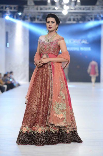 pakistani designer maroon bridal lehenga 2016-2017