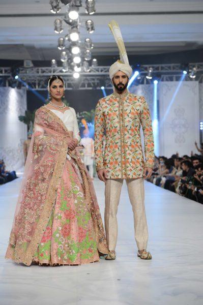 pakistani designer pink bridal lehnga 2016-2017