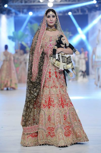 pakistani designer crimson red bridal lehenga 2016-2017
