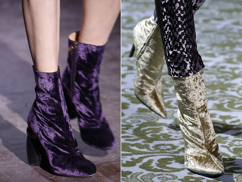 Top winter fall 2016-2017 velvet shoes trend