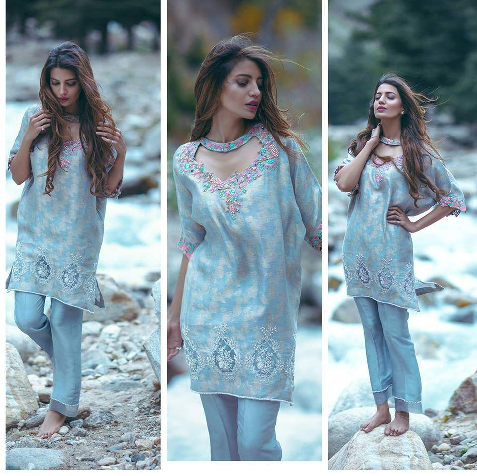latest sky-blue-embroidered-party-dress-2016-2017
