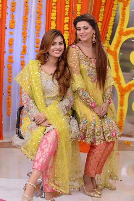 Mehndi dresses pictures pakistani 2018