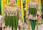 Latest Pakistani Bridal Mehndi Dresses 2018 frocks