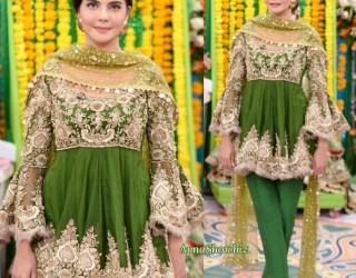 Latest Pakistani Bridal Mehndi Dresses 2018 for Brides