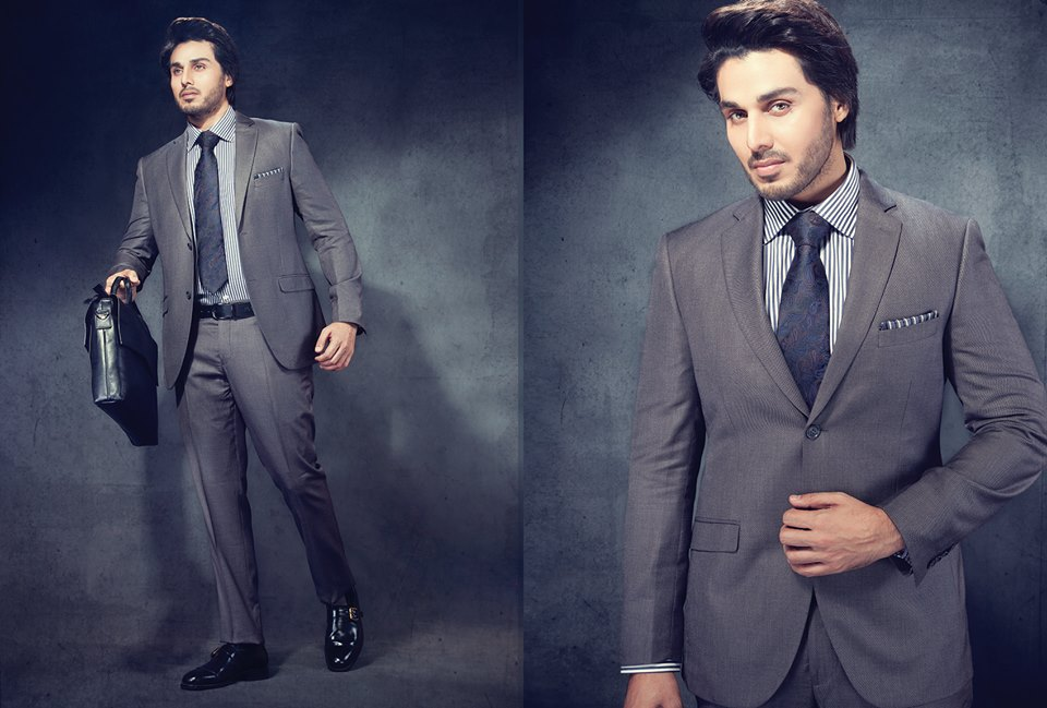 Latest men formal suits 2016-2017 in Pakistan