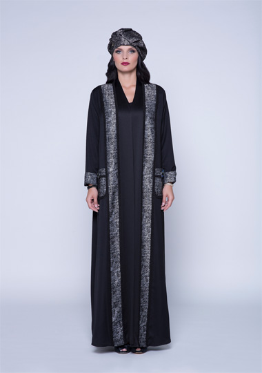New trendy effa black abaya designs 2016-2017