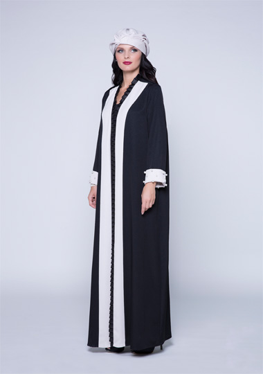 New trendy effa black and white abaya designs 2016-2017