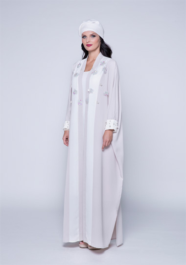 New trendy effa white abaya designs 2016-2017