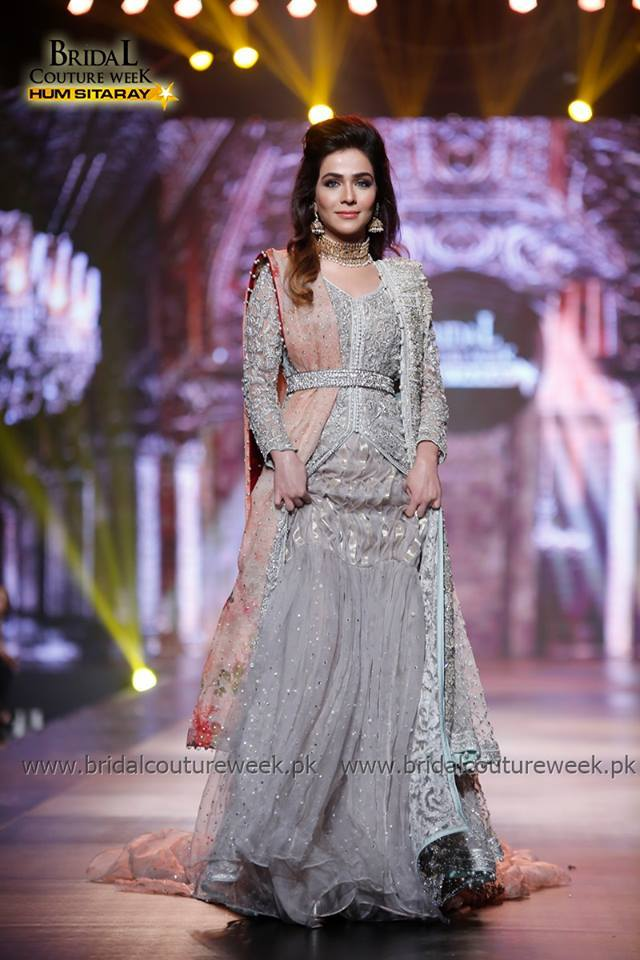 Pakistani Designer Walima Dresses 2017 in grey color