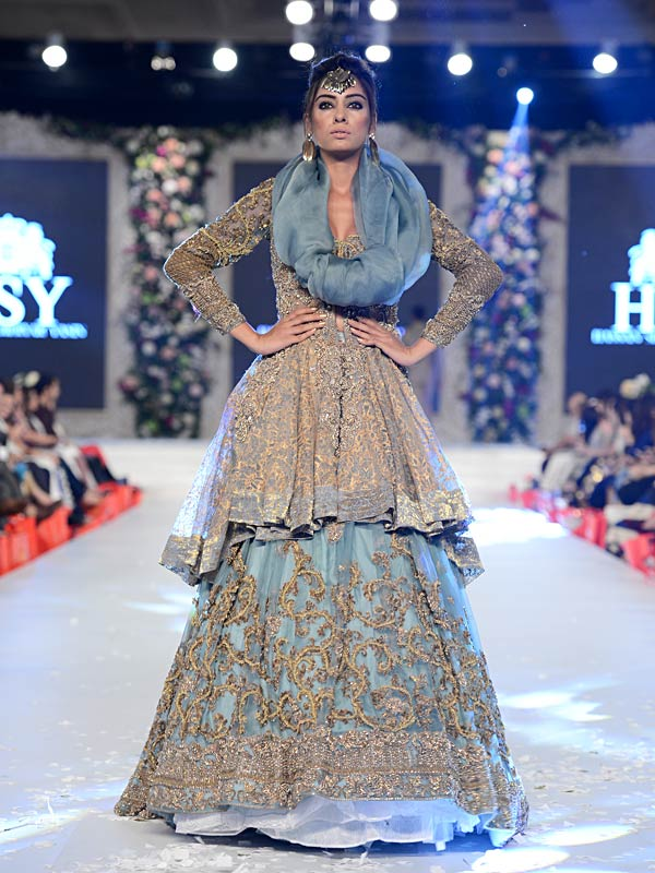 Pakistani Designer Walima Dresses 2017 in aqua blue color