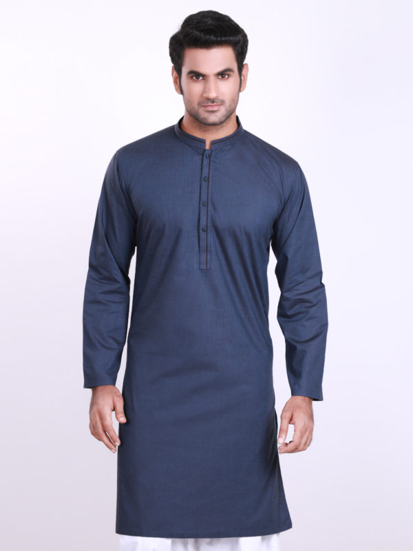 Eden robe Men navy blue Kurta Design 2016-2017