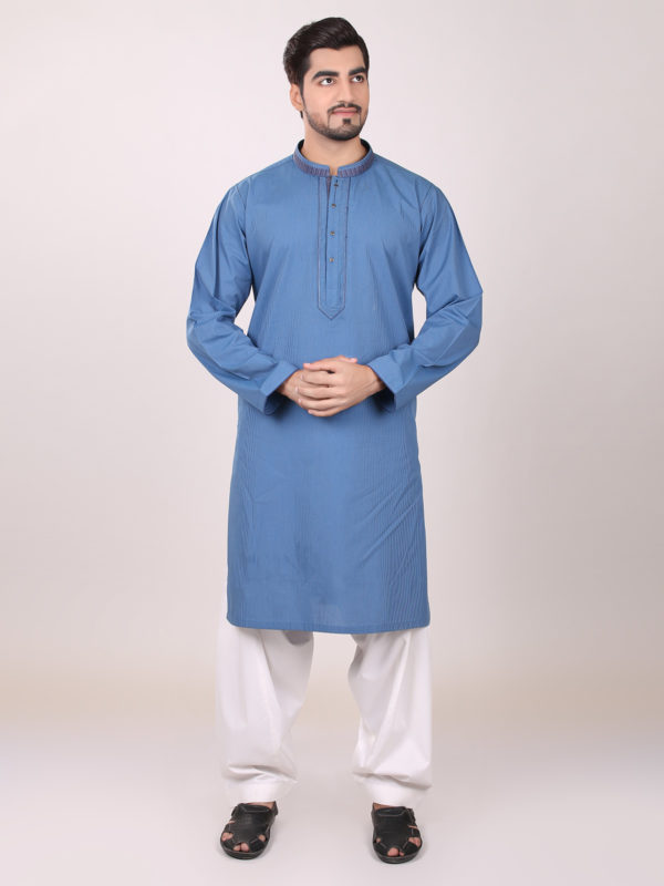 Eden robe Men blue Kurta Design 2016-2017