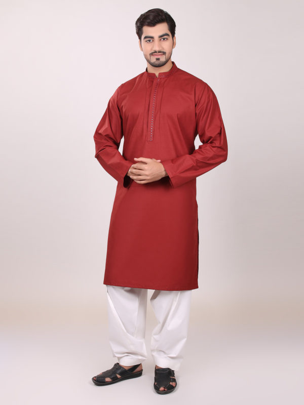 Eden robe maroon Men Kurta Design 2016-2017
