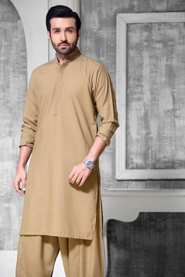 bonanza men camel color winter kurta design 2016-2017