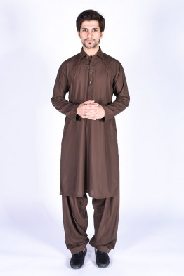 bonanza men dark brown winter kurta design 2016-2017