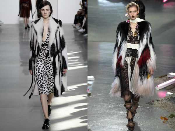 top winter fall 2016-2017 white and black fur coat trend for women