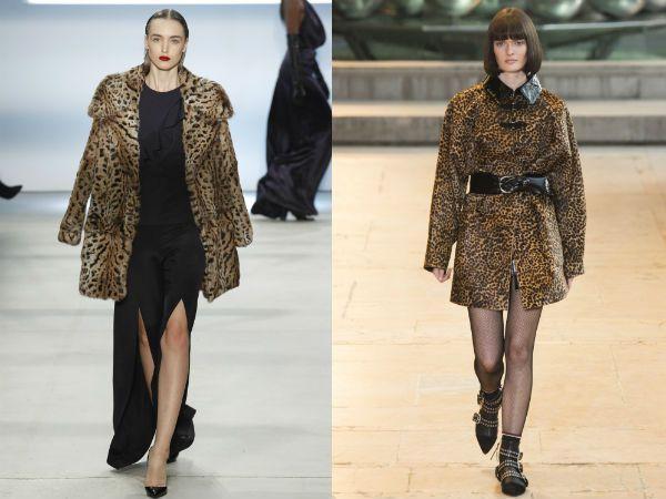 top winter fall 2016-2017 animal printed coat trend for women