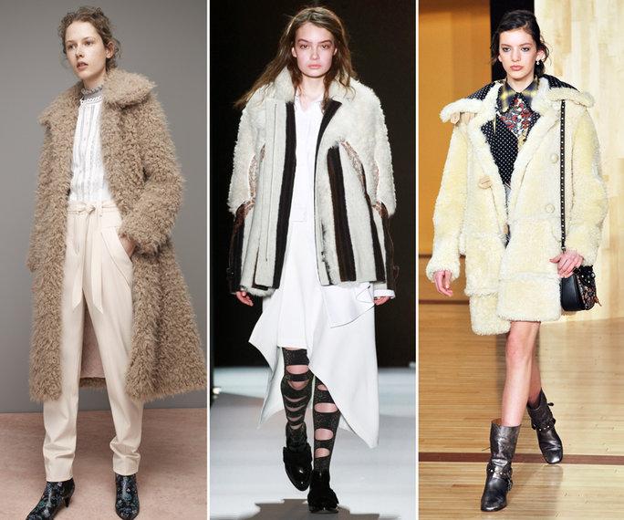 top winter fall 2016-2017 shearling coat trend for women