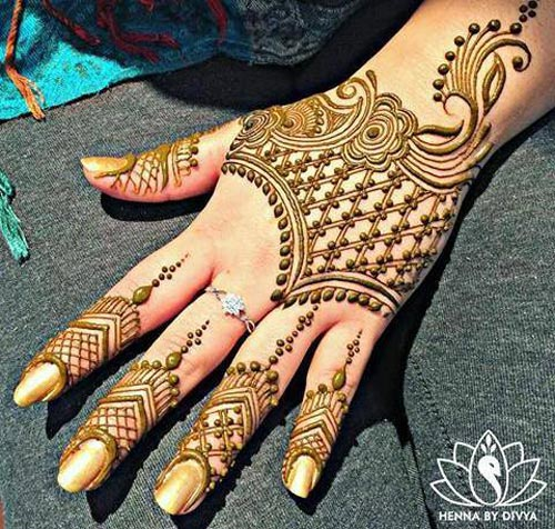 Latest New Style Eid Mehndi Designs For Hands 2017 2