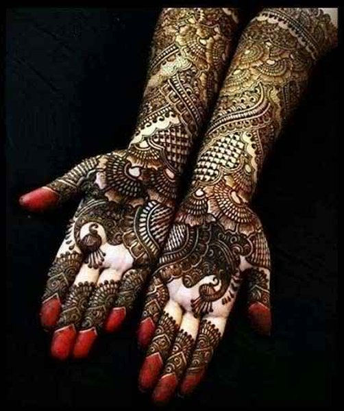 Trendy Indian Eid Mehndi 2017 for Palm of Hand