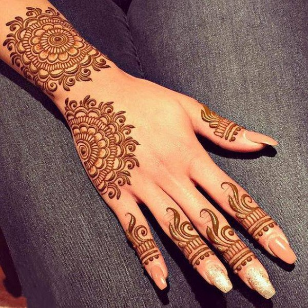 Mehndi Design New : Latest new style eid mehndi designs for hands
