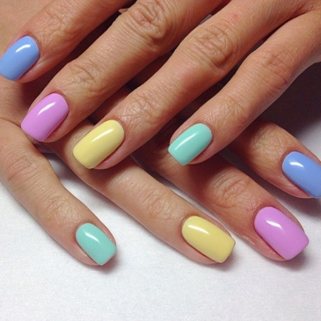 pastel nail design ideas 2017 for spring/summer