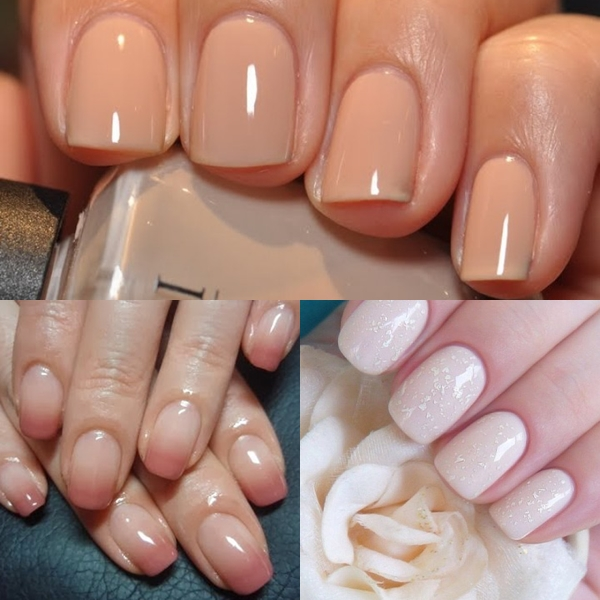 Spring/summer ombre Nude nail designs 2017