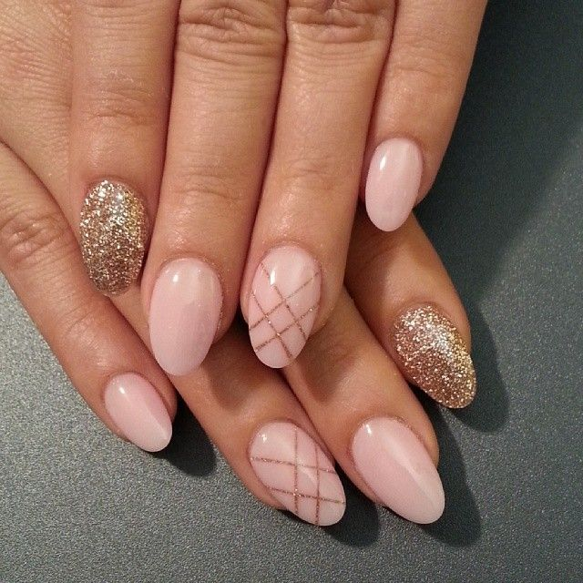 Spring/summer oval Nude nail designs 2017