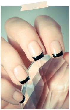 nontraditional French nails for spring/ summer 2017