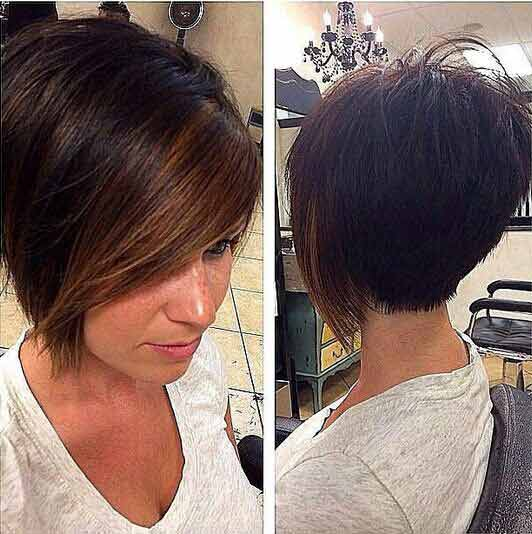 Latest best summer short hairstyles 2020 in pakistan with side part front hair