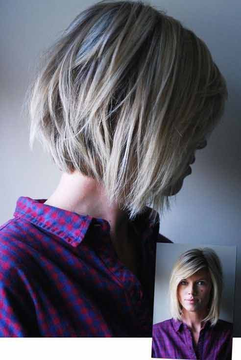 New reverse bob best summer short hairstyles 2017 in pakistan for fine hair