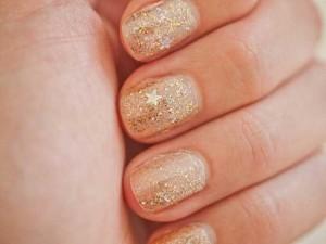 best golden eid party nail art designs 2017 for pakistani girls