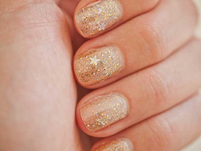 best golden eid party nail art designs 2017 for pakistani girls