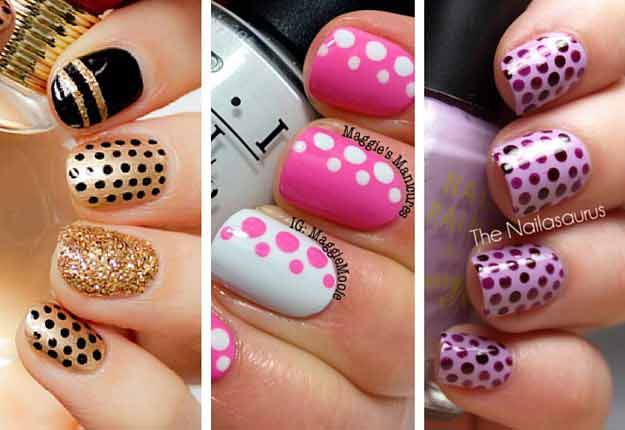 new black and golden pink and white purple and magenta eid party nail art designs 2017 for pakistani girls