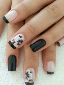 amazing black and white eid party nail art designs 2017 for pakistani girls