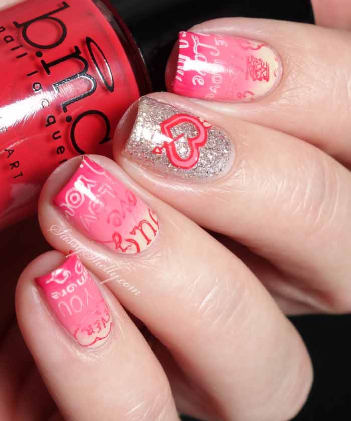 best light pink eid party nail art designs 2017 for pakistani girls