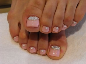 Gorgeous wedding Pink Nails For toes