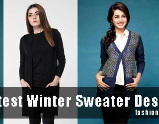 Latest Winter Sweater Designs 2017 For Girls In Pakistan