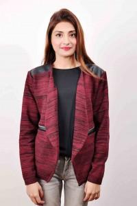best front open maroon latest winter sweater designs 2017 for pakistani girls