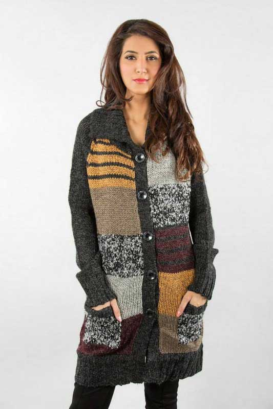 best multi color latest winter sweater designs 2017 for pakistani girls by bonanza
