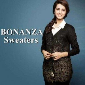 stylish brown and black latest winter sweater designs 2017 for pakistani girls by bonanza