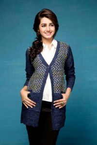best front open blue latest winter sweater designs 2017 for pakistani girls by bonanza