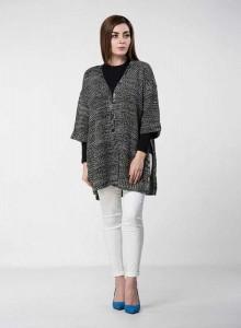 stylish grey baggy style latest winter sweater designs 2017 for pakistani girls