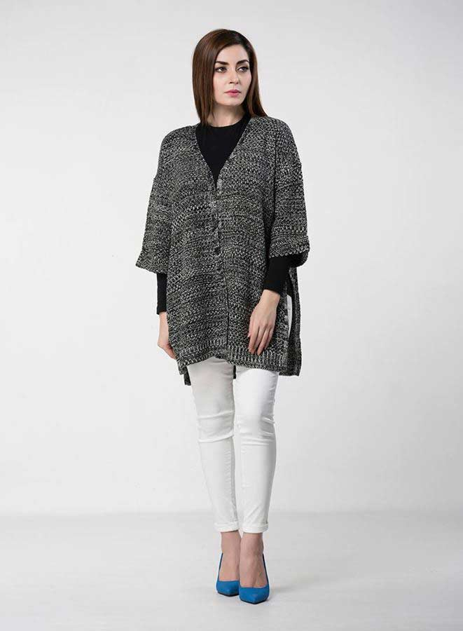 stylish grey baggy style latest winter sweater designs 2017 for pakistani girls