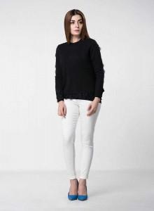 best black latest winter sweater designs 2017 for pakistani girls