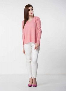 best cute baby pink latest winter sweater designs 2017 for pakistani girls