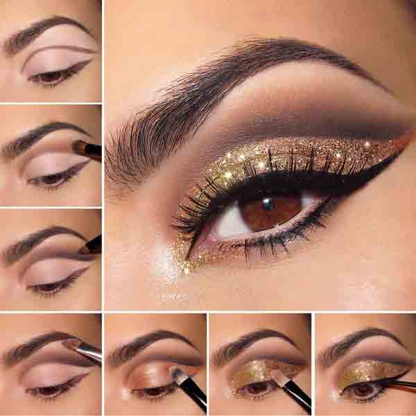 golden eyes best eid party makeup ideas 2017 for girls