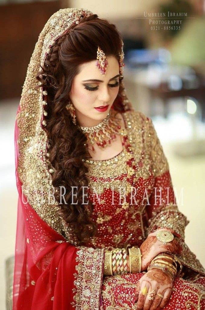 Pakistani Wedding Hairstyles 2017 For Barat Day